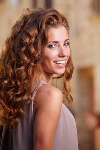 curly hair at Melanie Richard's hair salon in Peterborough