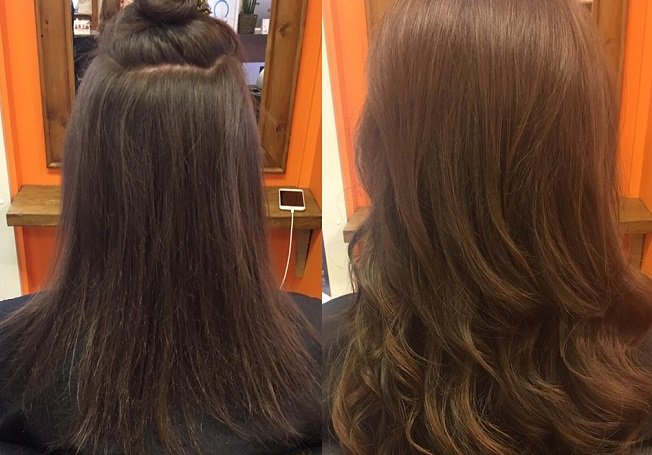 great length hair extensions Melanie Richards hair salon in Peterborough