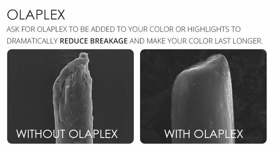 olaplex hair treatments at Melanie Richard's hair salon