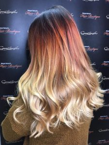 autumn/winter hair colours at Melanie Richard's hair salon