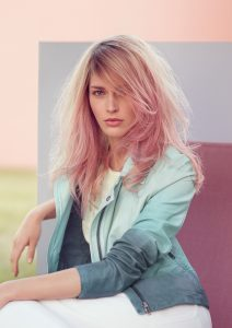dusty pink hair colours at melanie richards hair salon