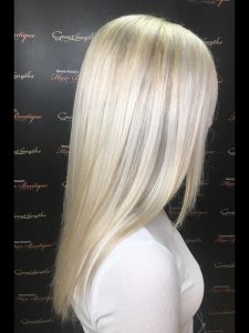 blonde hair colour at melanie richards hair salon peterborough