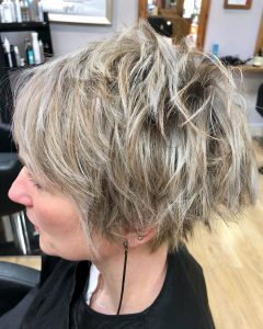 short pixie crops at melanie richards hair boutique and tanning salon in peterborough