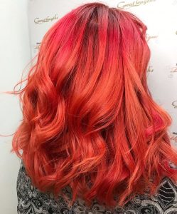 Vibrant Hair Colours for Festivals at melanie richards hair salon in peterborough