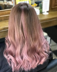 pastel hair colours at melanie richards hair salon in peterborough