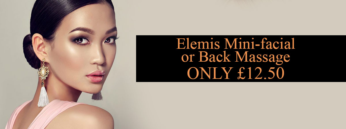 Elemis Mini facial or Back Massage ONLY £12.50 at melanie richards hair and beauty salon in peterborough