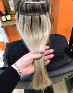tape extensions at melanie richards hair and beauty salon in peterborough