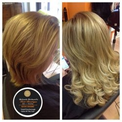 Hair Extensions Before and After 1
