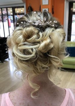 WEDDING HAIR IDEAS FOR BRIDES AND BRIDESMAIDS ATT MELANIE RICHARDS HAIR BOUTIQUE AND TANNING SALON IN PETERBOROUGH